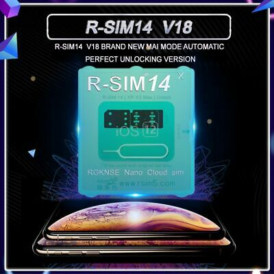 R-SIM14+V18 R-SIM12+V16 Nano Unlock Card RSIM for iPhone XS MAX/XR 6-8 iOS 12 11