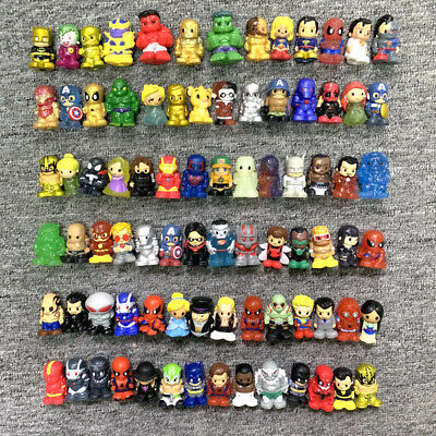 100+ Ooshies DC Marvel Spider-man Ironman Flash Pencil topper Figure collect toy