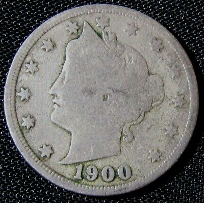 1900 5C Liberty V Nickel  AN3