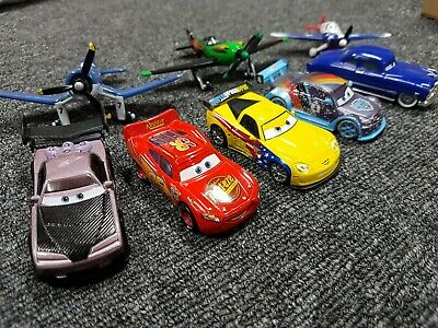 Disney Pixar diecast 5 x Cars and 3 x Planes from the Cars movie Mattel