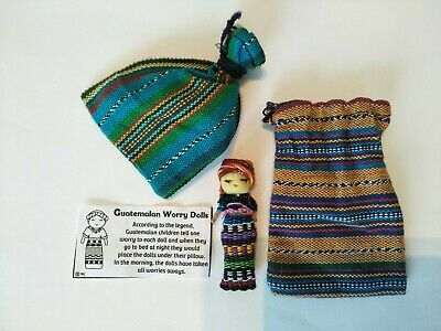 Worry Dolls- 1 Worry Doll in a Textile Bag