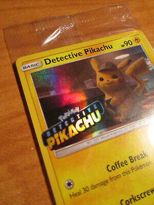 SEALED Pokemon DETECTIVE PIKACHU Card BLACK STAR PROMO Set SM190 DVD Movie Stamp