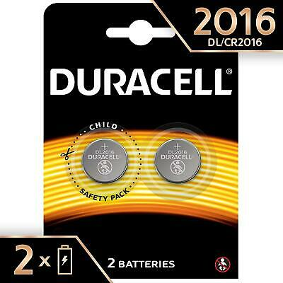 Duracell Specialty 2016 3V Lithium Button 2 Battery Coin Cell DL2016 CR2016