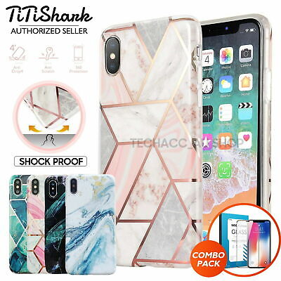 iPhone XS Max XR 8 7 6 Plus Case Shockproof Tough Marble Soft Cover for Apple