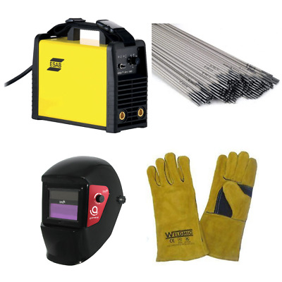 Esab Buddy Arc 180 Welder Beginners Set With Electrodes, Shield And Gloves