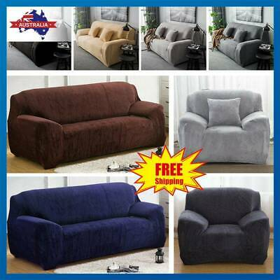 Seater Elastic Sofa Cover Home Soft Easy Stretch Slipcover Protector Couch - AU