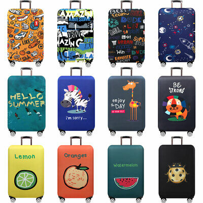 Thick Luggage Cover 18''-32'' Travel Suitcase Protective Cover Elastic Dustproof