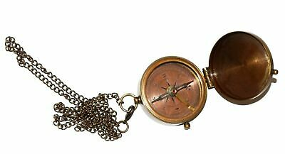 Go Confidently Marine Brass Nautical Navigational Compass with Leather case