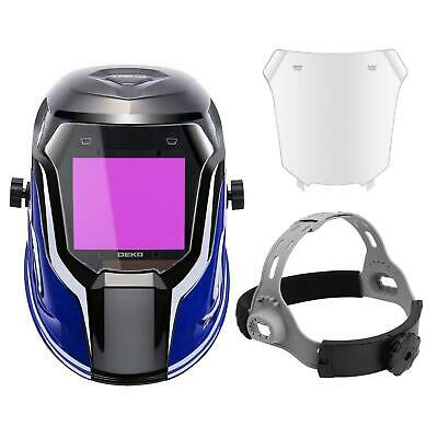 DEKO 4/5-8.5/9-1 Auto Darkening Welding Helmet Upgraded Solar Power Shade Range