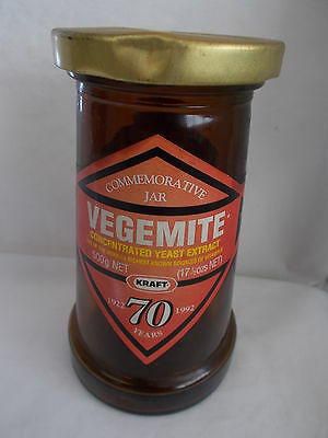 Vintage Australian Vegemite Commemorative Jar 1922 1992.