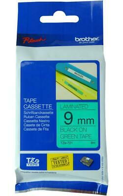 Tape, Black On Green, 9Mm , Brother , Tze-721