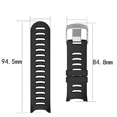 For Garmin Forerunner 610 Silicone Wristband Sports Watch Strap With Tool