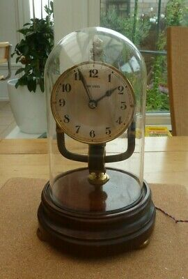Antique Bulle 800 Day Electric Electromagnetic Clock With Glass Dome - Not Work