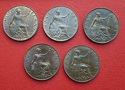 Edward VII Half Pence - 1902 to 1910 - Choose your date or grade