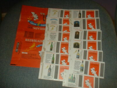 Set Of 14 Matchbox Label Skillets And Wrapper From Australia Eaglehawk Series