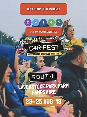 CarFest South Tickets x 3 Adults, x1 Child, x1 Infant Saturday 24 August