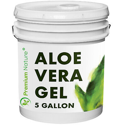 Pure Aloe Vera Gel 4 Gallons For Face & Body Moisturizer Skincare Bulk Size
