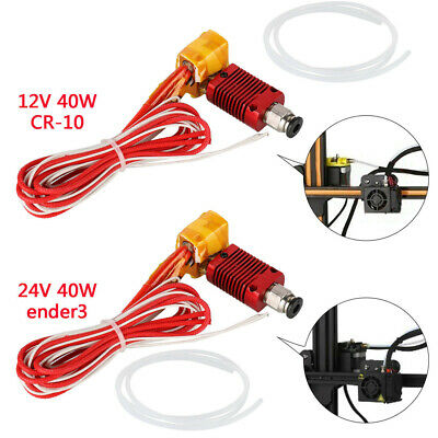 MK8 Extruder Hot End Kit 0.4mm Nozzle For CR-10 / Ender 3 3D Printer 1m Cable