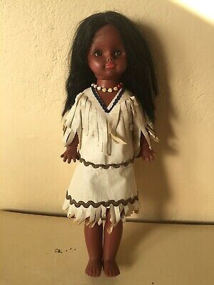Pair Of American Indian Dolls In Traditional Dress
