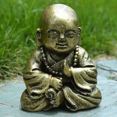 Buddha Monk Figurine Yoga Meditation Decorative Sculpture Garden ZEN Decoration