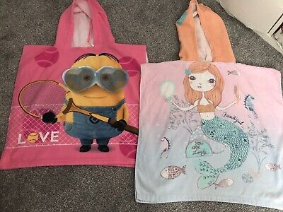 Minions Pink Hooded Towel And Mermaid