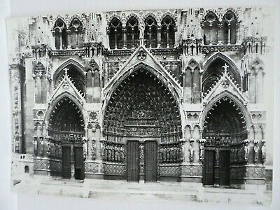 CPM  RPPC  CATHEDRALE D'AMIENS FACADE OCCIDENTALE GRAND PORTAIL  XIIIe s.