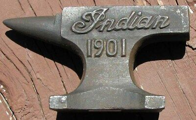 Indian Motorcycle Cast Iron Anvil Advertising Paperweight Nice L@@k #f120