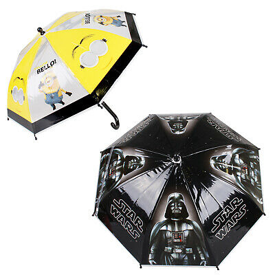 Star Wars - Minions - Kids Boys Girls Umbrella - School Rain Dry