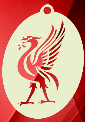 Liverpool Football Club Liver Bird Crest Face Painting Mylar Stencil 2.5 X 2""