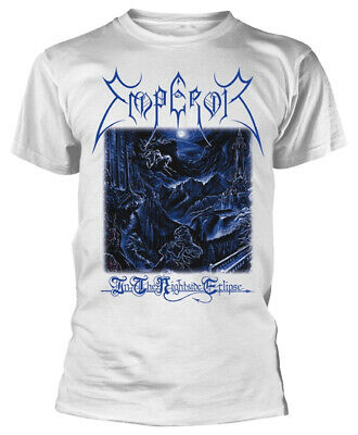 Emperor 'In The Nightside Eclipse' (White) T-Shirt - NEW & OFFICIAL!