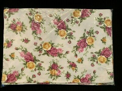 "ROYAL ALBERT Old Country Roses SET OF 8 CLOTH PLACEMATS 13"" X 19""  NEW"
