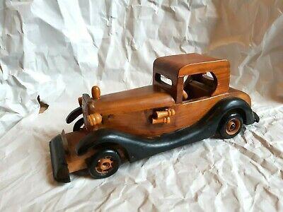 Antique Vintage Carved Wood Wooden Toy Car Decorative Ornament Treen