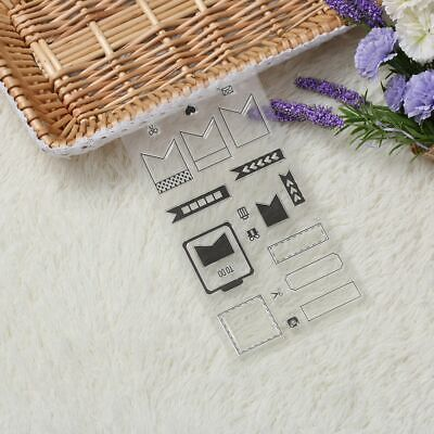 Craft Card DIY Rubber Stamp Sheet Cling Scrapbooking Transparent Clear Rubber