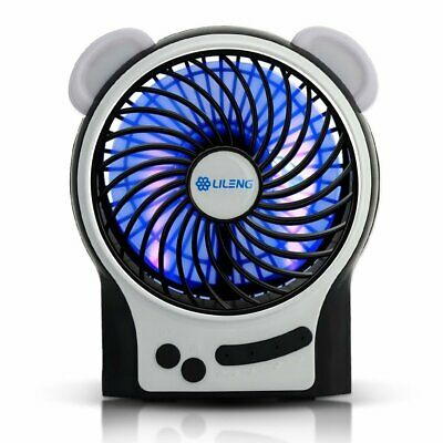 CestMall Portable Mini USB Ventilateur multifonctionnel rechargeable Fan de 3