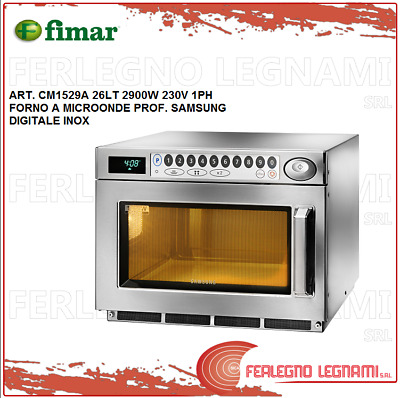 Microwave Oven Prof Samsung 26LT 2900W 1PH Digital Stainless Fimar CM1529A