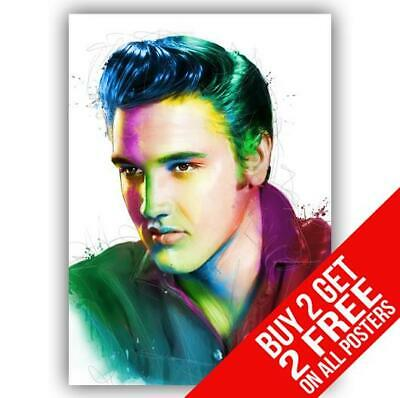 Elvis Presley Poster Art Print A4 A3 Size - Buy 2 Get Any 2 Free