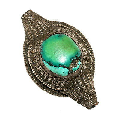 (2567) Antique element of headdress Ladakh/Tibet. Turquoises and silver