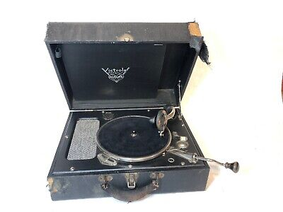 Vintage RCA Victor Victrola Phonograph Portable Suitcase Record Player