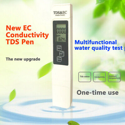 Electrical EC Display Water Quality Testing Pen Purity Filter TDS Meter Tester