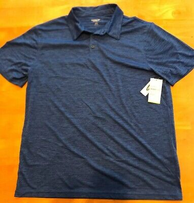 Boys Old Navy Active Blue Polo Shirt Top Athletic Summer Size L