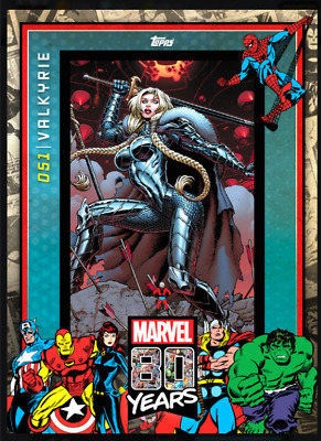 Topps Marvel Collect Card Trader 80 Years Celebration Variant Wave 6 Valkyrie