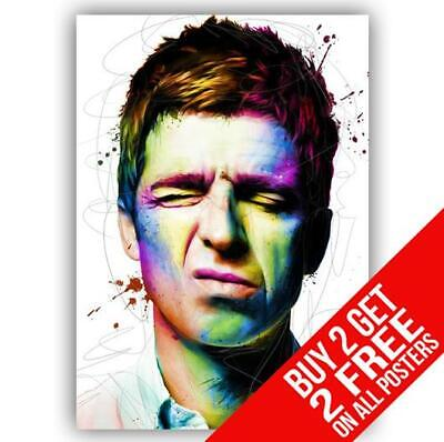 Noel Gallagher Oasis Poster Art Print A4 A3 Size - Buy 2 Get Any 2 Free