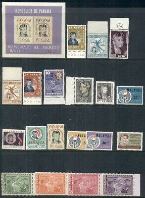 Group Of Eleanor Roosevelt Issues From Different Countries, 21 Diff. All Ng, Vf