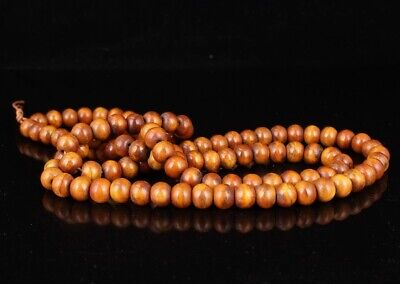 Unique China Wood Hand-Carved Buddhist Necklace Spiritual Gift Collection