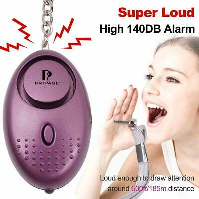 Pripaso Personal Alarm Keychain With LED Flashlight (Pack of 2 included)