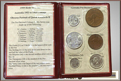 1959 Australian Pre-Decimal coin set – a perfect 60 year Birthday Gift