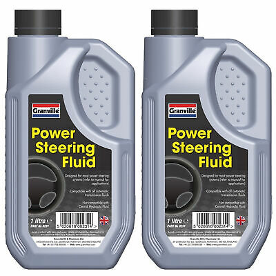 2 x Granville Power Steering Fluid Synthetic Oil Based Hydraulic Lubricant 1 Lit