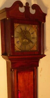 Antique Oak  8 Day  Brass Dial   Longcase / Grandfather Clock
