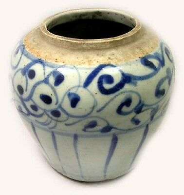 "Superb Intact 18th Century China Blue + White ""Ming"" Style Porcelain Vase"