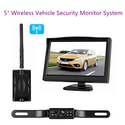 """5"""" TFT Wireless Car Rear View Cam System + 170° Parking Camera Kit For Bus Truck"""